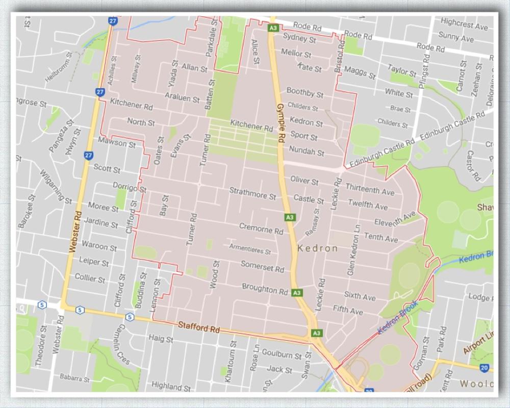 Kedron Brisbane Map