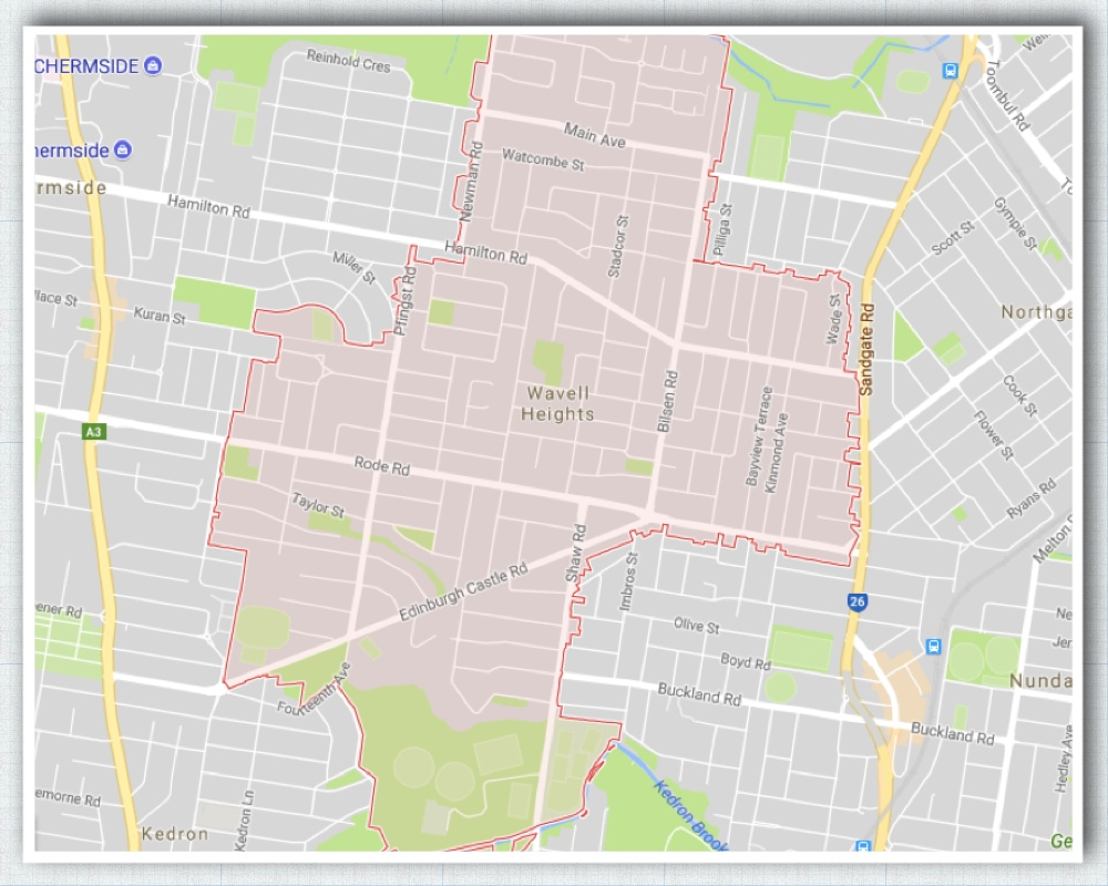 Wavell Heights Brisbane Map