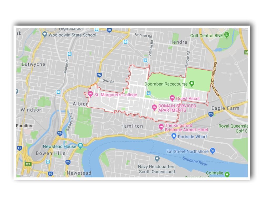 Ascot Brisbane Map