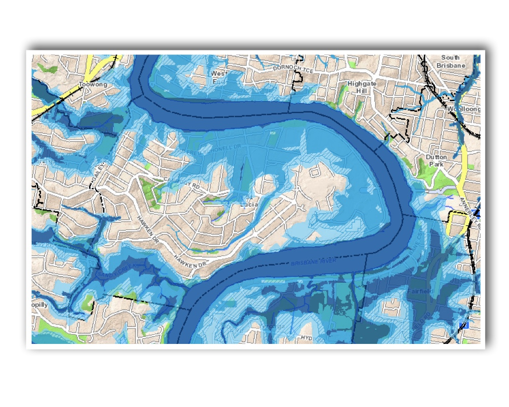 St Lucia Brisbane Flood map