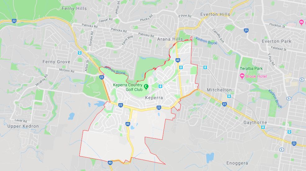 Keperra Brisbane Map