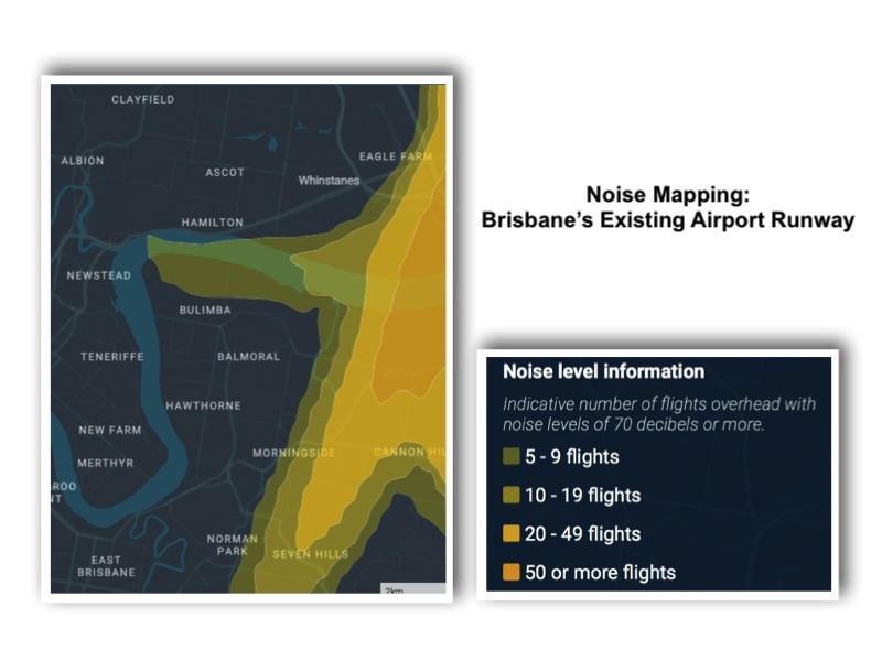 Noise Mapping Brisbane Airport Exisiting Runway