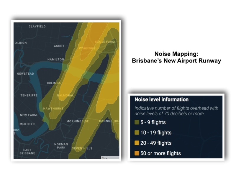 Noise Mapping Brisbane Airport New Runway
