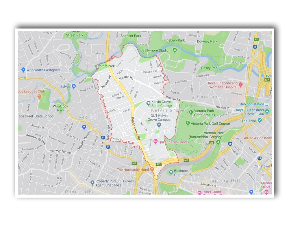 Kelvin Grove Map