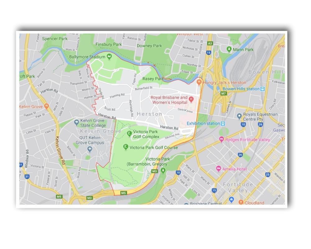 Herston Map