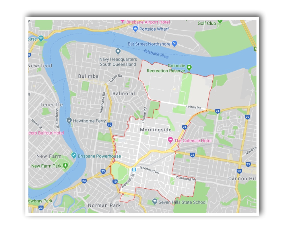 Morningside Brisbane Map