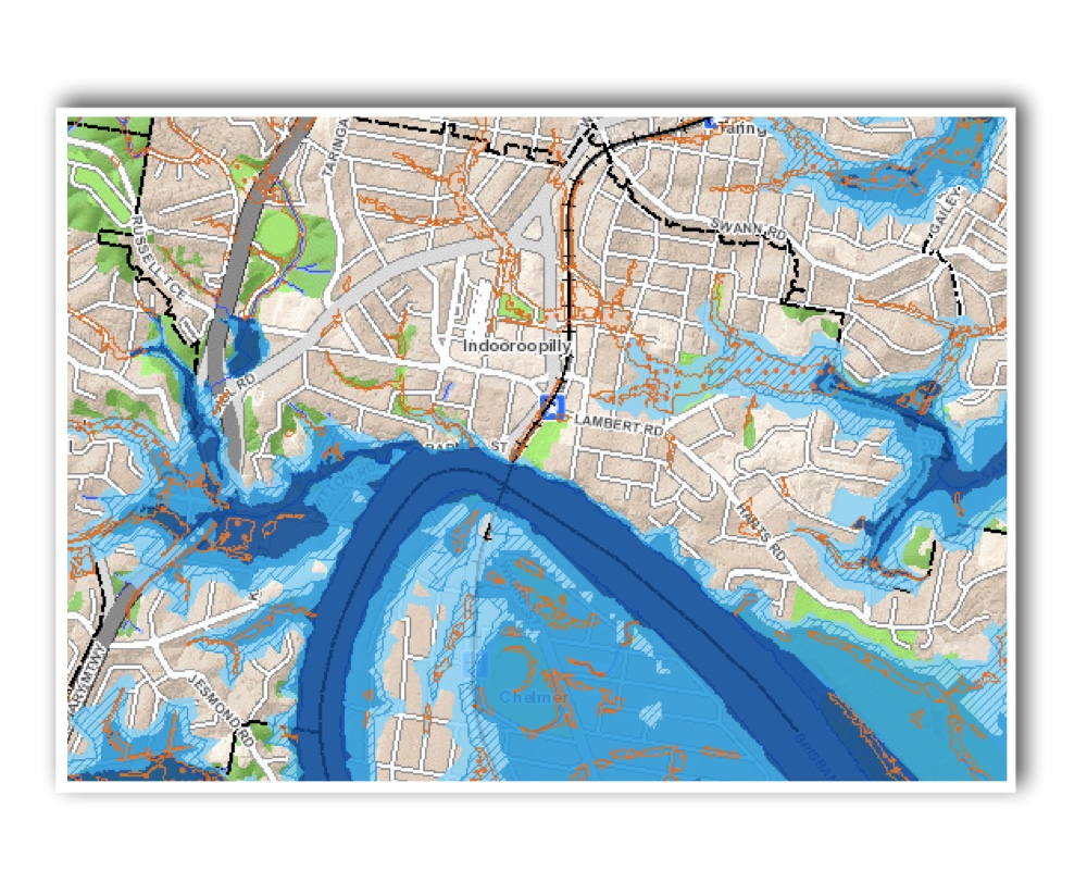 Indooroopilly Flood map