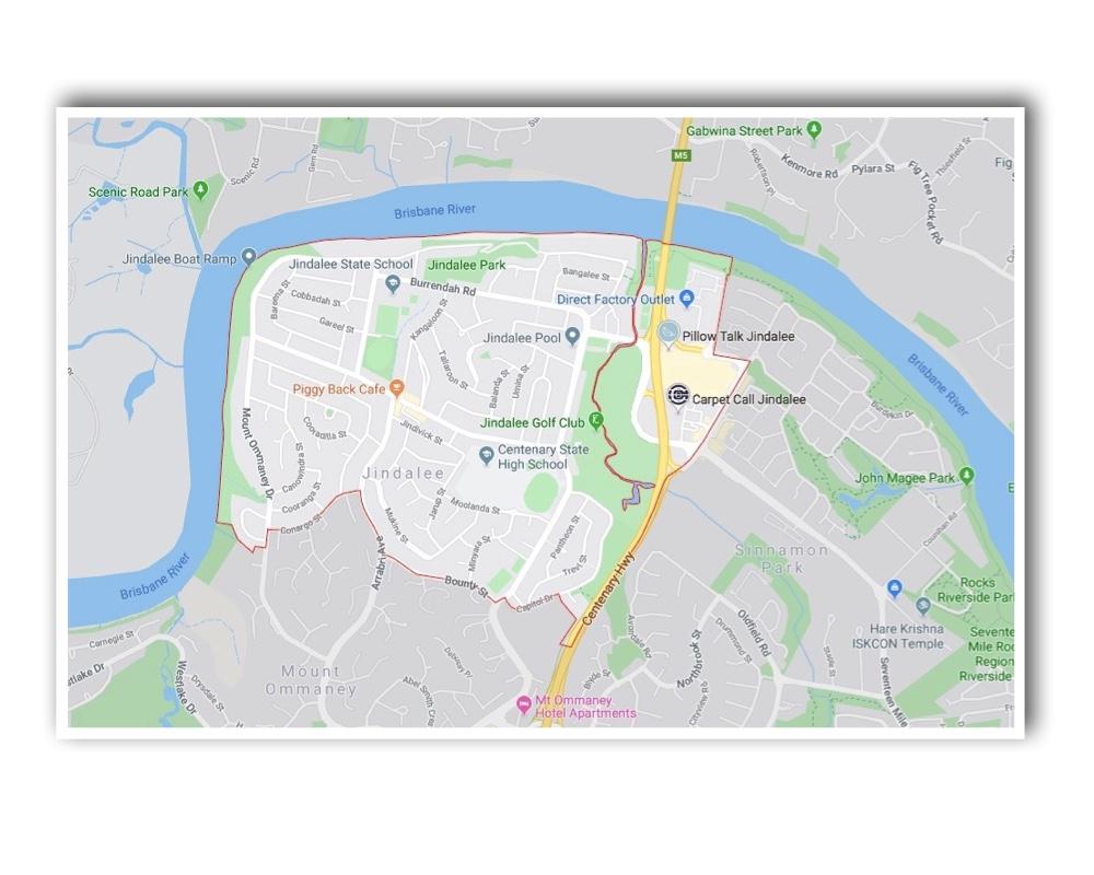 Jindalee Brisbane Map