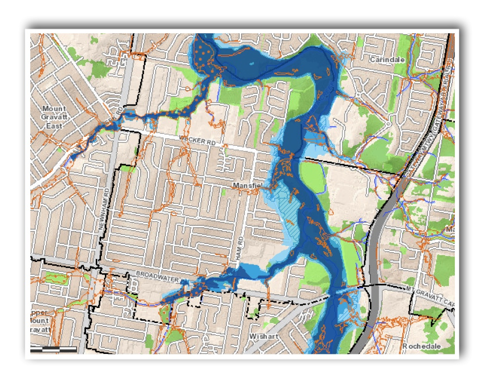 Mansfield Flood Map