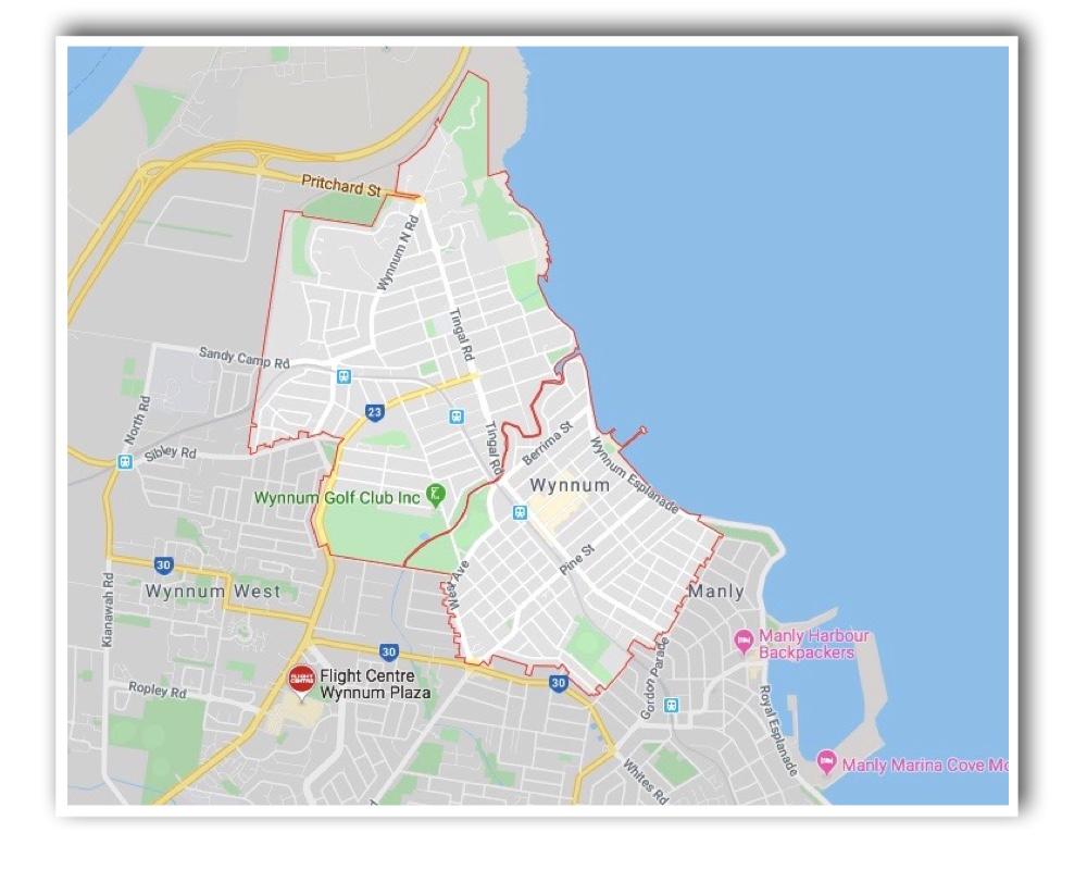 Wynnum Brisbane Map