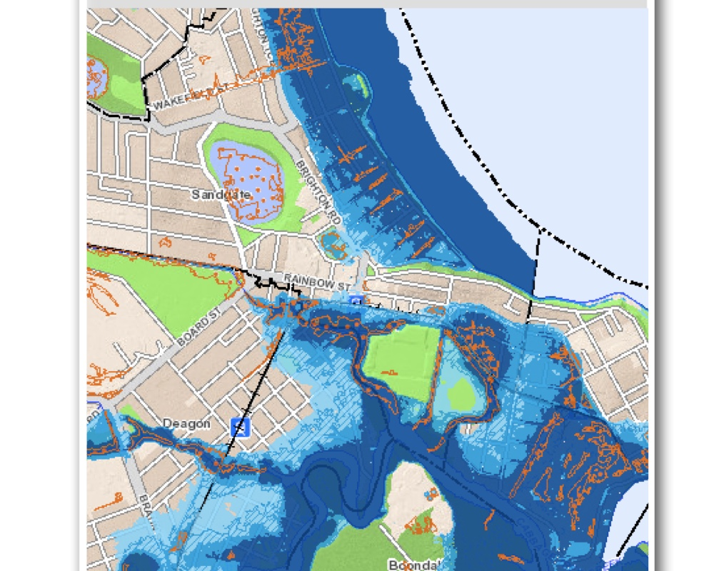 Flood map Sandgate