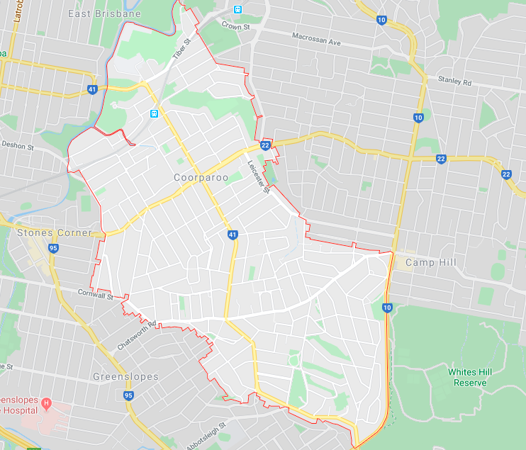 Coorparoo Map