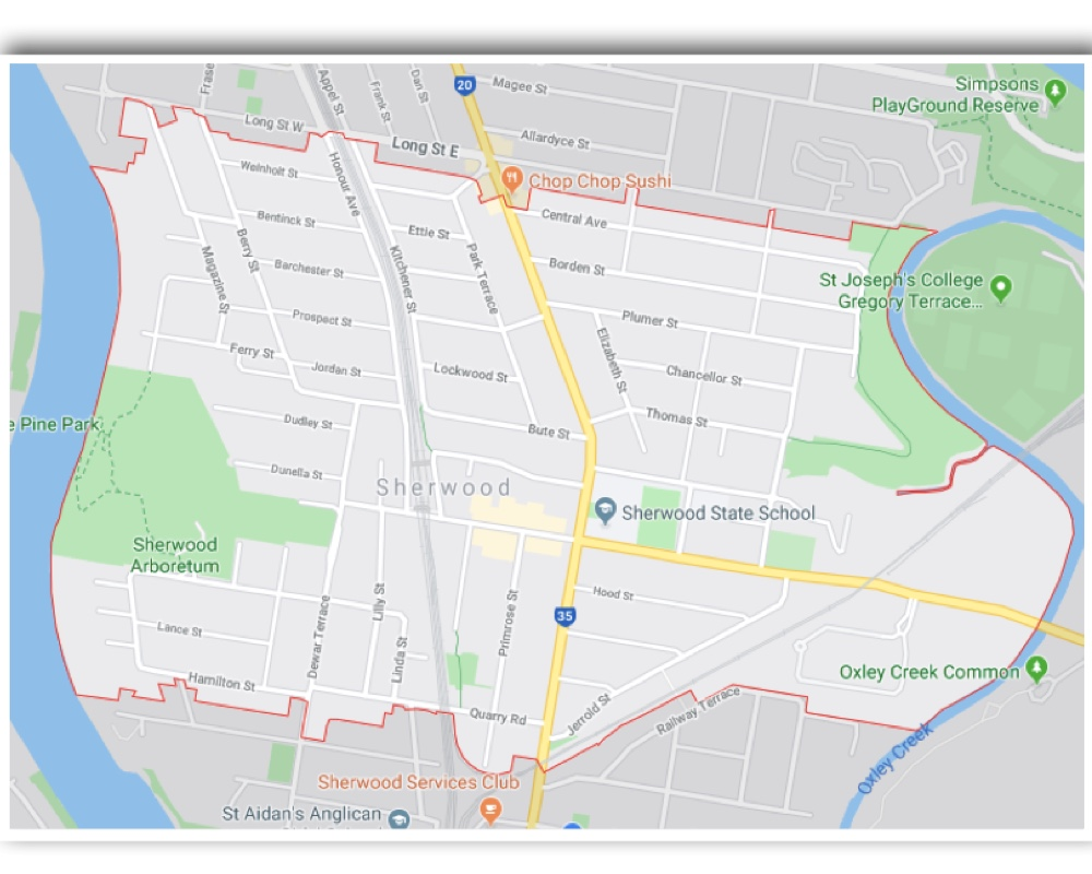 Sherwood Brisbane Map