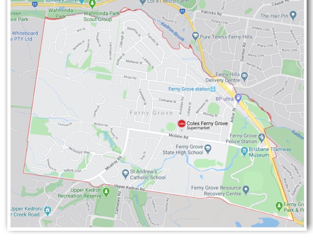 Ferny Grove Map