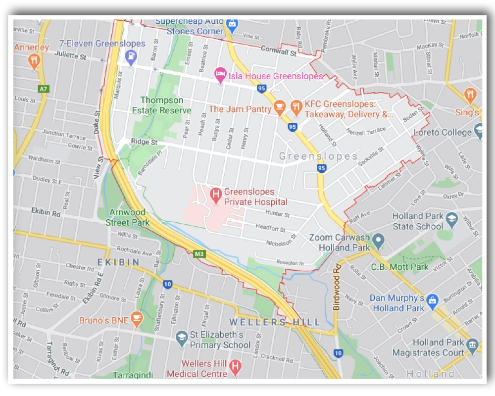 Greenslopes Brisbane Map
