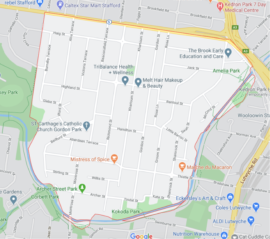 Gordon Park Map