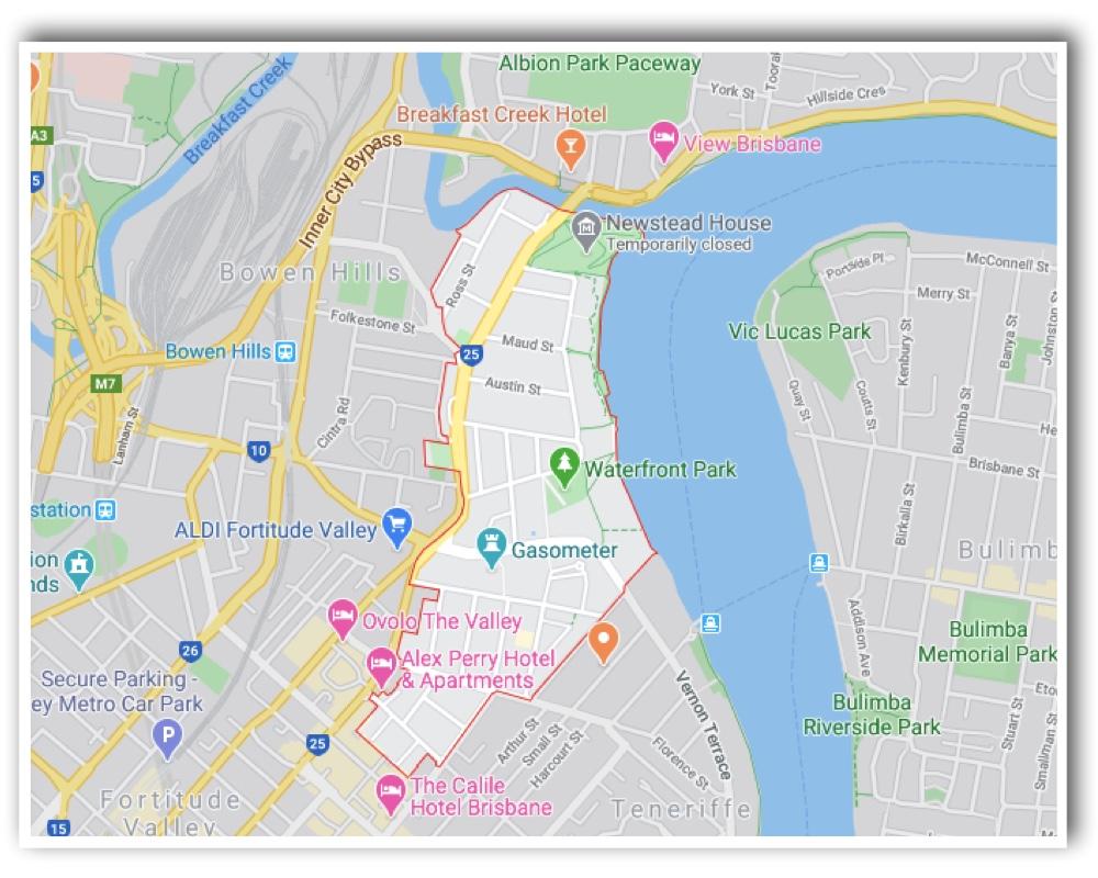 Newstead Brisbane Map 2