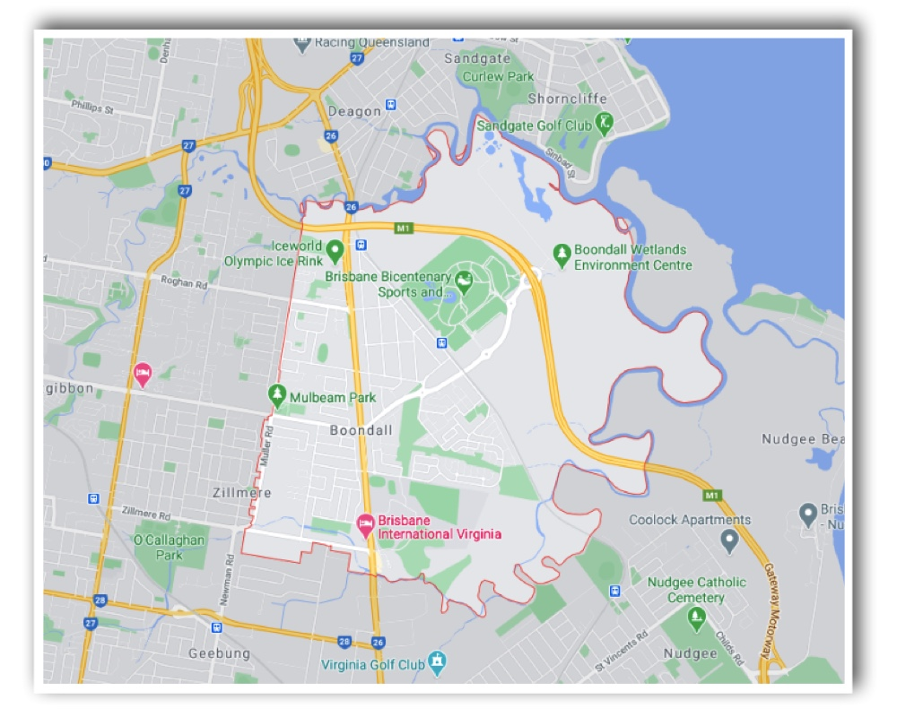 Boondall Brisbane Map
