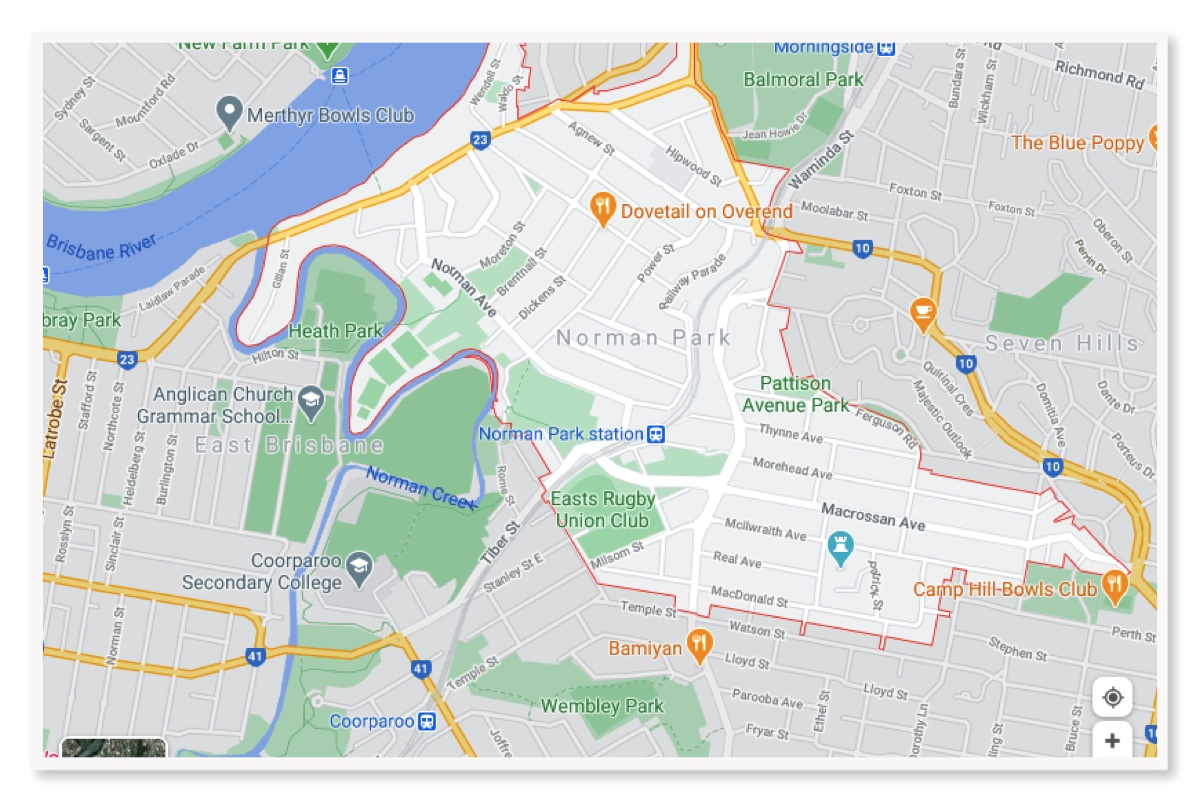 Map Norman Park